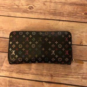 Louis Vuitton multicolor zippy long wallet